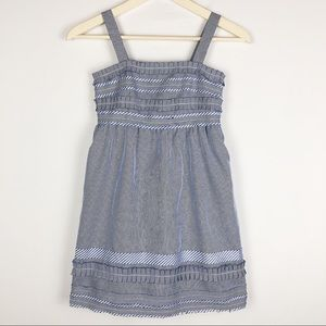 Little girls white and blue sundress size M